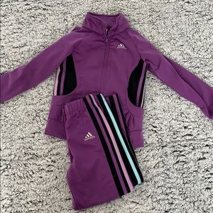 Girls 4T adidas purple track suit